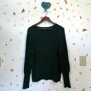 Ann Taylor Wool Blend Emerald Pine Green Sweater